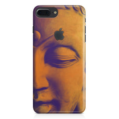 Peaceful Serene Lord Buddha Apple Iphone 7 plus with Apple cut  printed back cover