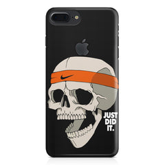 Skull Funny Just Did It !  design,  Apple Iphone 7 plus with Apple cut  printed back cover