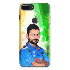 Virat Kohli Oil Painting India design,  Apple Iphone 7 plus with Apple cut  printed back cover