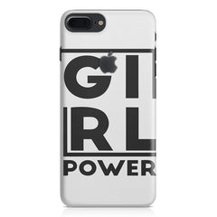 Girl power deisgn Apple Iphone 7 plus with Apple cut  printed back cover