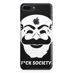 Fuck society design Apple Iphone 7 plus with Apple cut  printed back cover