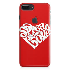 Spread some love design Apple Iphone 7 plus with Apple cut  printed back cover