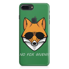 No fox given design Apple Iphone 7 plus with Apple cut  printed back cover