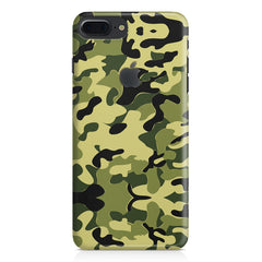 Camoflauge army color design Apple Iphone 7 plus with Apple cut  printed back cover
