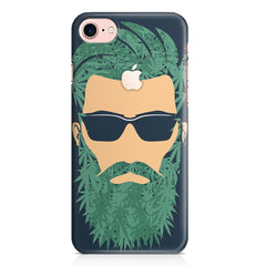 Beard guy with goggle sketch design Apple Iphone 7 with Apple cut printed back cover