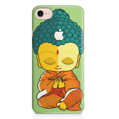 Buddha caricature design Apple Iphone 7 with Apple cut printed back cover