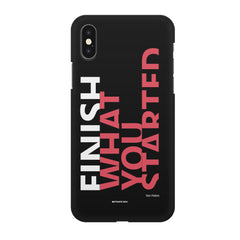 Finish What You Started - Quotes With Determination design,  Apple Iphone X printed back cover
