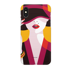 Classy girl  design,  Apple Iphone X printed back cover