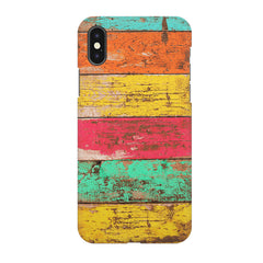 Strips of old painted woods  Apple Iphone X printed back cover