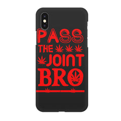 Pass the joint bro quote design all side printed hard back cover by Motivate box Apple Iphone XR hard plastic all side printed back cover.