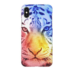 Colourful Tiger Design Iphone X hard plastic printed back cover.