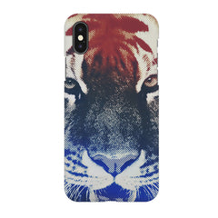 Pixel Tiger Design Iphone X hard plastic printed back cover.