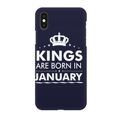 Kings are born in January design all side printed hard back cover by Motivate box Apple Iphone XR hard plastic all side printed back cover.