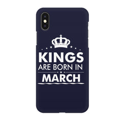 Kings are born in March design all side printed hard back cover by Motivate box Apple Iphone XR hard plastic all side printed back cover.