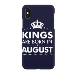 Kings are born in August design Iphone X all side printed hard back cover by Motivate box Iphone X hard plastic printed back cover.