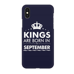 Kings are born in September design all side printed hard back cover by Motivate box Apple Iphone XR hard plastic all side printed back cover.