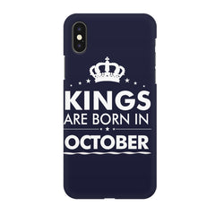 Kings are born in October design all side printed hard back cover by Motivate box Apple Iphone XR hard plastic all side printed back cover.