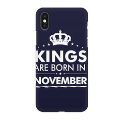 Kings are born in November design Iphone X all side printed hard back cover by Motivate box Iphone X hard plastic printed back cover.