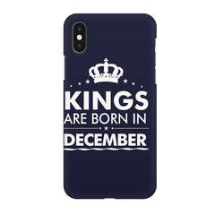 Kings are born in December design all side printed hard back cover by Motivate box Apple Iphone XR hard plastic all side printed back cover.