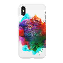 Colourful parrot design Apple Iphone XR hard plastic all side printed back cover.