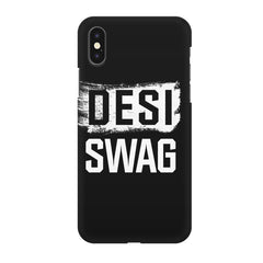Desi Swag Iphone X hard plastic printed back cover.