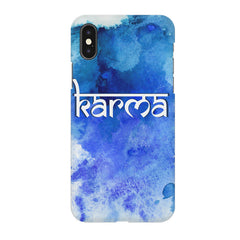 Karma Iphone X hard plastic printed back cover.