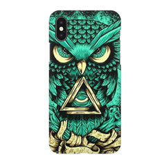 Owl Art design,  Apple Iphone X printed back cover