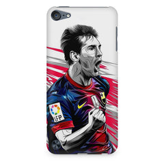 Messi illustration design,  Apple Ipod Touch 6  printed back cover