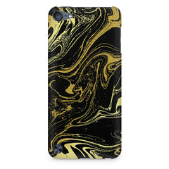 Golden black marble design Apple Ipod Touch 6  printed back cover