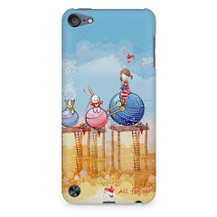 Woollen ball ride sketch design Apple Ipod Touch 6 printed back cover