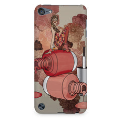 Girl on nail paints sketch design Apple Ipod Touch 6 printed back cover