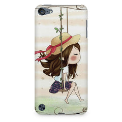 Girl swinging sketch design Apple Ipod Touch 6 printed back cover