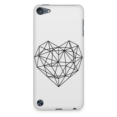 Black & white geometrical heart design Apple Ipod Touch 6 printed back cover