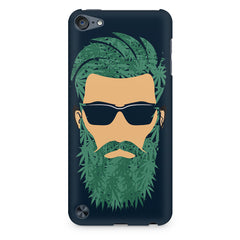 Beard guy with goggle sketch design Apple Ipod Touch 6 printed back cover