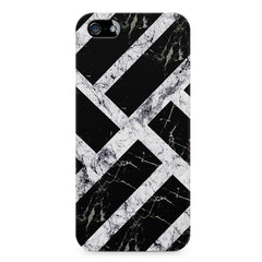 Black & white rectangular bars  Apple Iphone 4/4s printed back cover