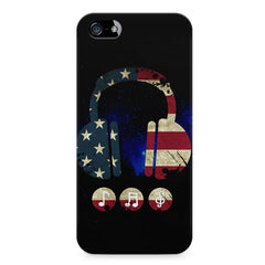 America tunes Blue sprayed  Apple Iphone 4/4s printed back cover
