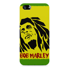 Black bob marley  Apple Iphone 4/4s printed back cover