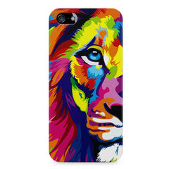 Colourfully Painted Lion design,  Apple Iphone 4/4s printed back cover