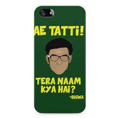 Ae Tatti! Tera naam kya hai?- Biswa  design,  Apple Iphone 4/4s printed back cover