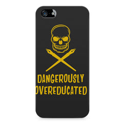 Dangerously overeducated design Apple Iphone 4/4s printed back cover