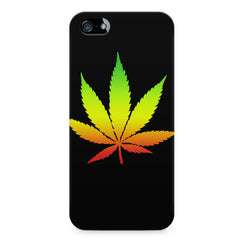 Marihuana colour contrasting design Apple Iphone 5/5s printed back cover
