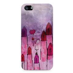 Girl with lipsticks sketch design Apple Iphone 5/5s printed back cover