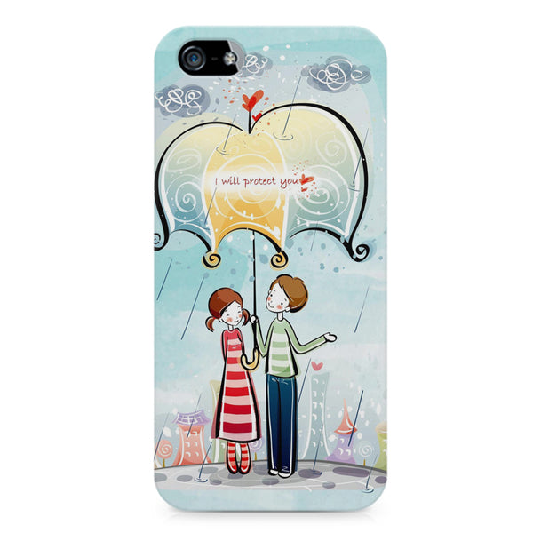 Couple under umbrella sketch design LG Nexus 6 printed back cover