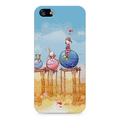 Woollen ball ride sketch design Apple Iphone 5/5s printed back cover