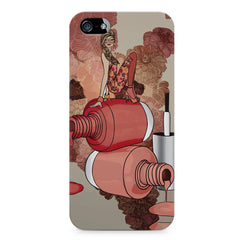Girl on nail paints sketch design Apple Iphone 5/5s printed back cover