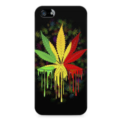Marihuana colour contrasting pattern design LG Nexus 6 printed back cover