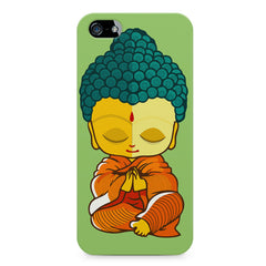 Buddha caricature design Apple Iphone 5/5s printed back cover