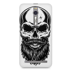 Skull with the beard  design,  Asus Zenfone 2 ( ZE551 ML ) printed back cover
