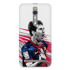 Messi illustration design,  Asus Zenfone 2 ( ZE551 ML ) printed back cover