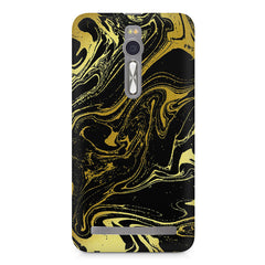 Golden black marble design Asus Zenfone 2 ( ZE551 ML ) printed back cover
